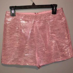 Pants - Pink Metallic Shorts